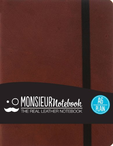 Monsieur Notebook Leather Journal - Brown Plain Small (Monsieur Notebook Plain, 24-lb Ivory): Hide ...