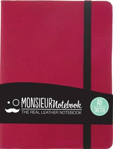 Monsieur Notebook - Real Leather A6 Pink Sketch: Monsieur