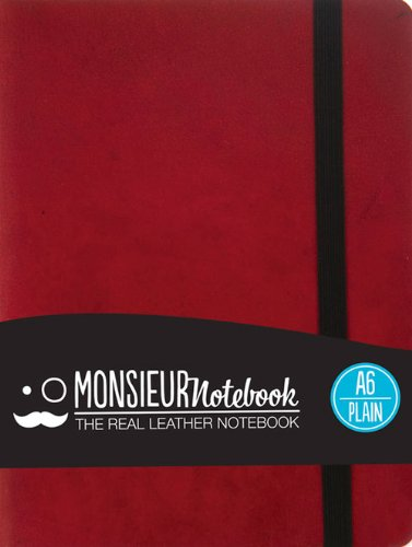 9781781431528: Monsieur Notebook Leather Journal - Red Plain Small (Monsieur Notebook Plain, 24-lb Ivory)