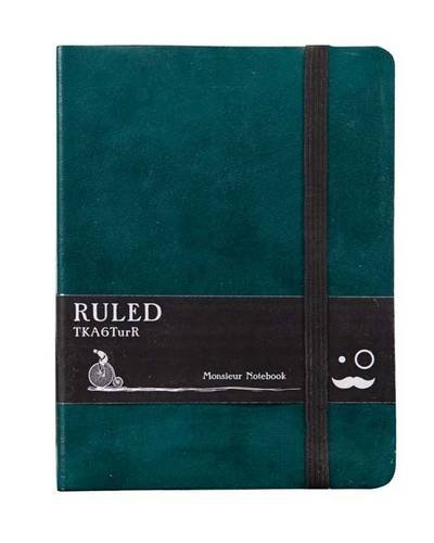 Monsieur Notebook - Real Leather A6 Turquoise Ruled: Monsieur