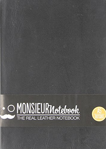 9781781432006: Monsieur Notebook Black Leather Dot Grid Medium