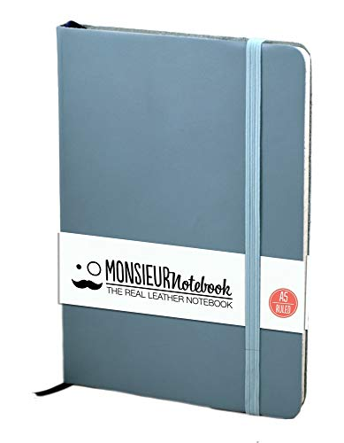 Monsieur Notebook Soft Leather Journal - Baby Blue Ruled Medium (Monsieur Notebook Soft Leather ...