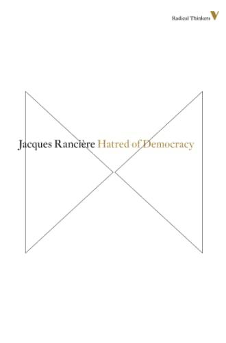 9781781681503: Hatred of Democracy (Radical Thinkers)