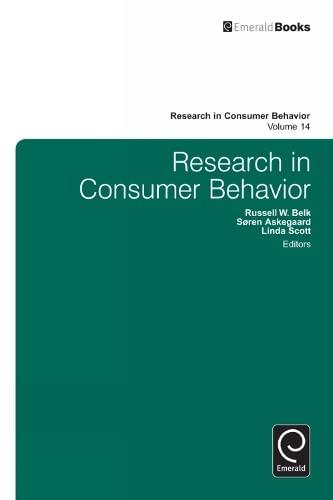 9781781900222: Research in Consumer Behavior