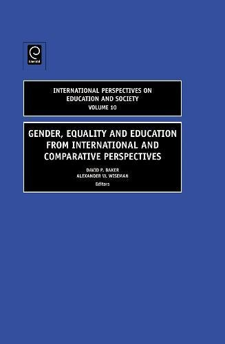 9781781901519: Gender, Equality and Education from International and Comparative Perspectives (International Perspectives on Education and Society)