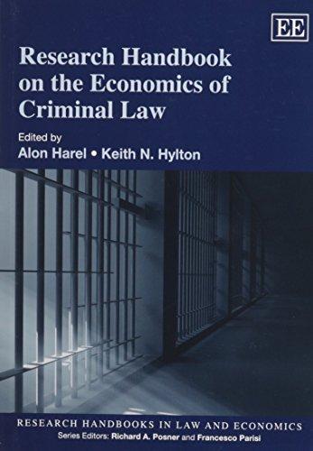 9781781953099: Research Handbook on the Economics of Criminal Law (Research Handbooks in Law and Economics series) (Elgar Original reference)