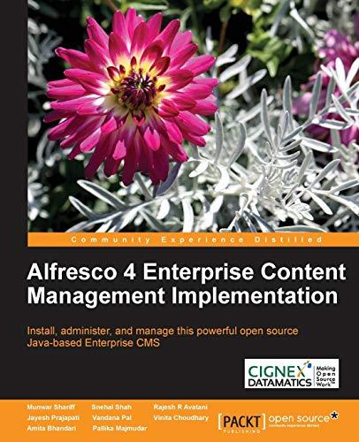 9781782160021: Alfresco 4 Enterprise Content Management Implementation
