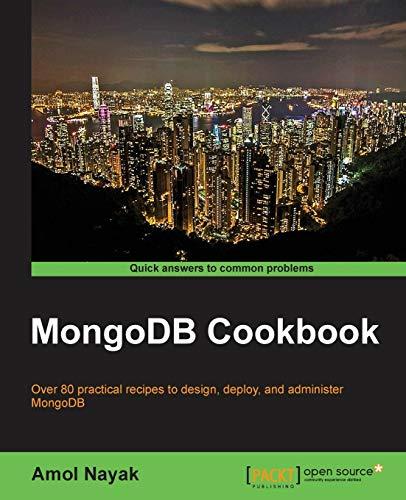9781782161943: MongoDB Cookbook