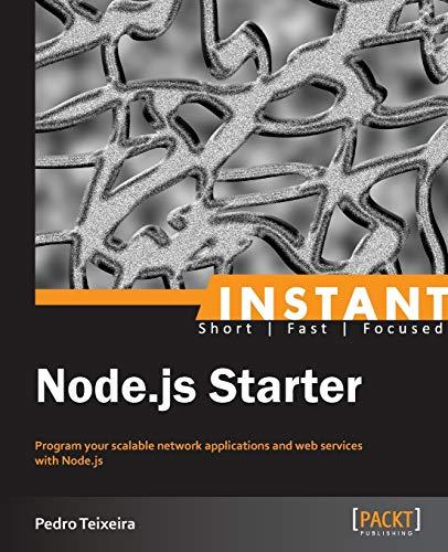 9781782165569: Instant Node.js Starter