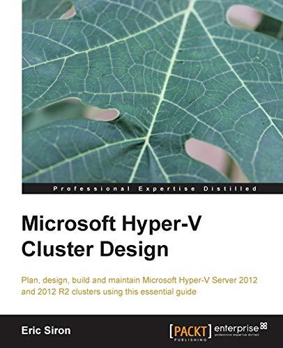 9781782177685: Microsoft Hyper-V Cluster Design