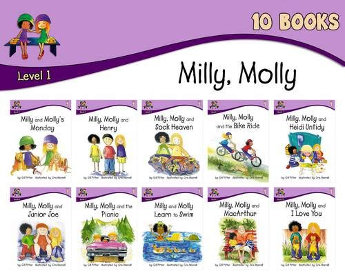 Milly Molly: Level 1 - 10 (Paperback): Gill Pittar