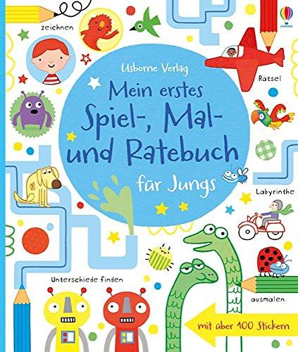 9781782320548: Mein erstes Spiel-, Mal- und Ratebuch für Jungs: Usborne zum Mitmachen