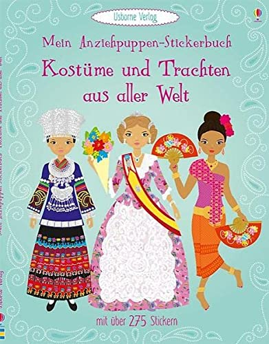 9781782322436: Mein Anziehpuppen-Stickerbuch: Kostüme und Trachten aus aller Welt