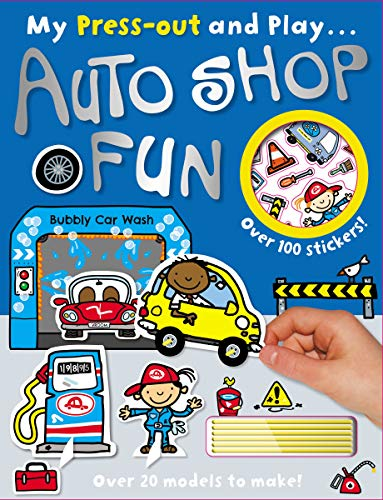 9781782355694: My Press-Out and Play Auto Shop Fun [With Sticker(s) and Straws]