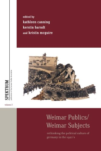 9781782381075: Weimar Publics/Weimar Subjects: Rethinking the Political Culture of Germany in the 1920s (Spektrum: Publications of the German Studies Association)