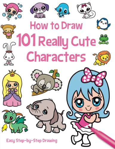 9781782444855: How to Draw 101 Really Cute Characters