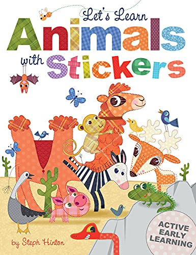 9781782445418: Let's Learn Animals with Stickers (Steph Hinton Sticker Books)
