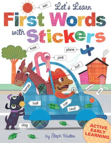 9781782445432: Let's Learn First Words with Stickers (Steph Hinton Sticker Books)
