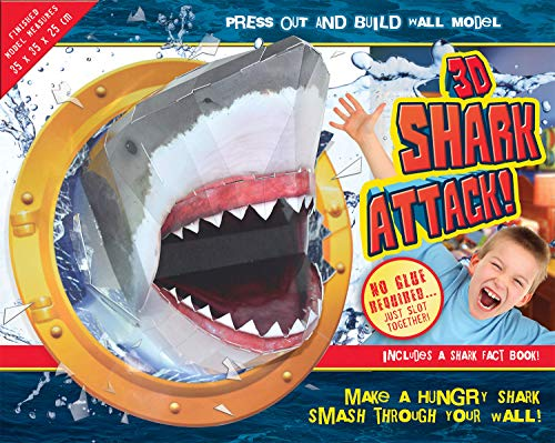 9781782448969: 3D Shark Attack! (Press Out & Build Wall Model)