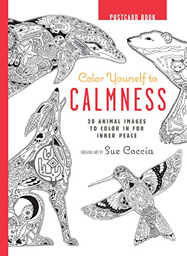 9781782493525: Color Yourself to Calmness Postcard Book: 20 animal images to color in for inner peace