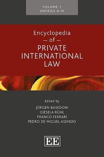 Encyclopedia of Private International Law: Basedow, Jürgen (Editor)/
