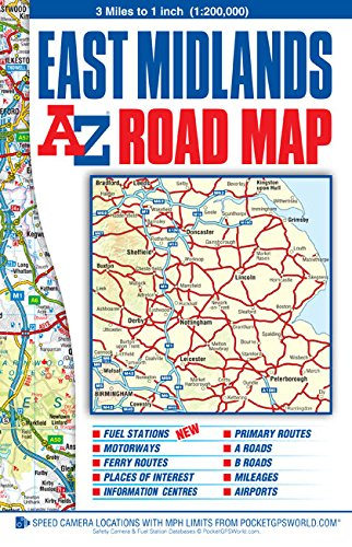 East Midlands Road Map (A-Z Road Map): Geographers A-Z Map Co Ltd