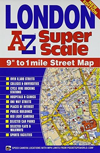 9781782570394: London Super Scale Map (A-Z Street Atlas)
