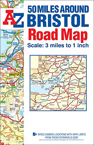 50 Miles Around Bristol Road Map: Geographers A-Z Map Co. Ltd.