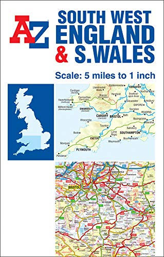 9781782570738: A-Z Sw England & S Wales Road Map (Road Atlas)