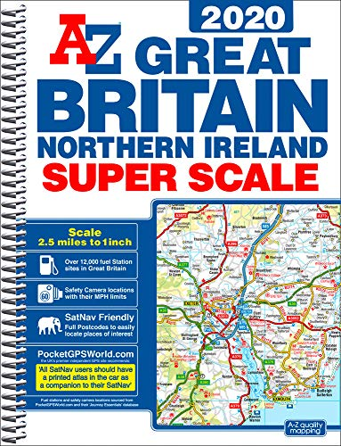 9781782572688: GB Super Scale Road Atlas 2020 A3 SPIRAL