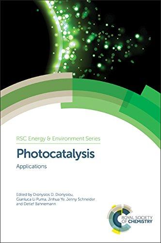 Photocatalysis: Applications (Energy and Environment Series): Dionysios D. Dionysiou,