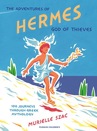 Adventures Of Hermes, God Of Thieves 9781782690306 Follow Hermes on 100 unforgettable journeys across the fascinating, colourful world of Greek mythology. The young god is determined to have adventures from the very moment of his unusual birth, stealing sacred cows, discovering fire and inventing the lyre and flute. With his tumbling brown curls and cheerful fearlessness, he charms his fellow gods: mighty Apollo, mournful Artemis, beautiful Aphrodite, and even the king of the gods, his father, Zeus himself. He will drink the nectar of Olympus and discover the truth about the immortals, from their first moments and worst monsters to their greatest loves and most terrible battles-but Hermes won't let any of it distract him from that whole wide world of good fun...