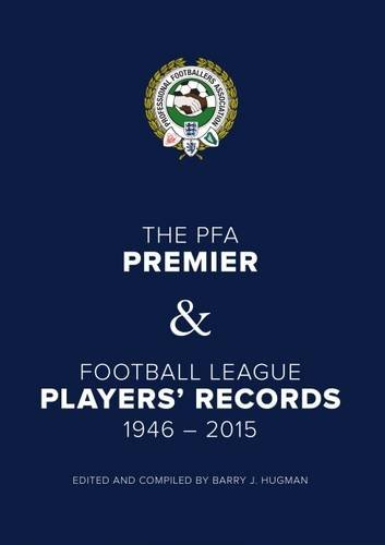 PFA Player's Records 1946-2015: Hugman, Barry J.