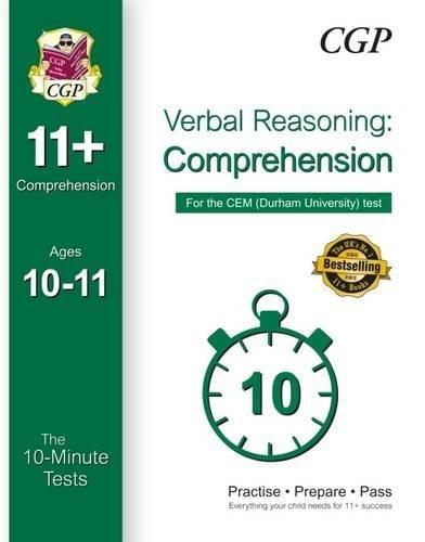 9781782945987: 10-Minute Tests for 11+ Comprehension (Ages 10-11) - CEM Test