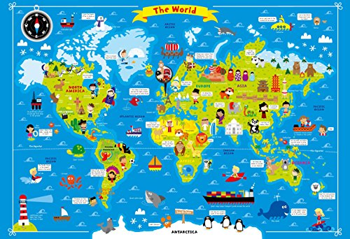 Fun Wall Chart World Map Sheet Map Autumn Publishing Ltd United