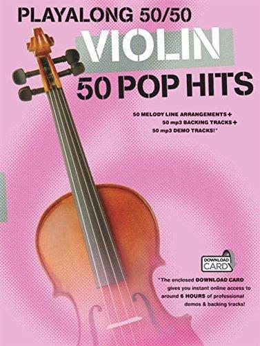 9781783052417: Playalong 50/50 Violin 50 Pop Hits (Book & Download Card)