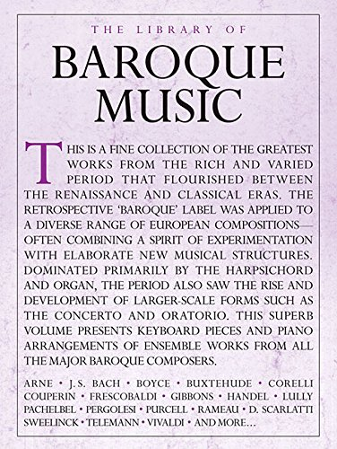 The Library of Baroque Music Piano Solo: Lung, Sam (EDT)