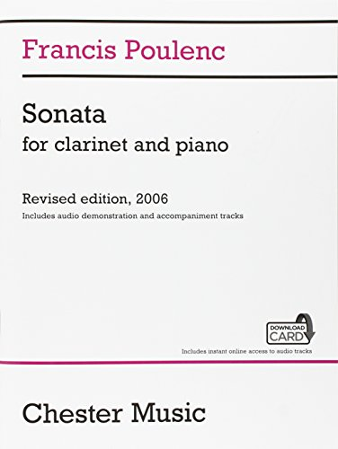9781783059515: Sonata For Clarinet And Piano Revised Edition 2006 Includes Audio Demo And Accomp Trak