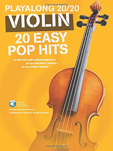 9781783059867: Playalong 20/20 Violin: 20 Easy Pop Hits (Book/Audio Download) +Telechargement (Playlong 2020)