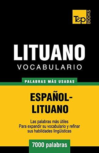 9781783140053: Vocabulario español-lituano - 7000 palabras más usadas (T&P Books)