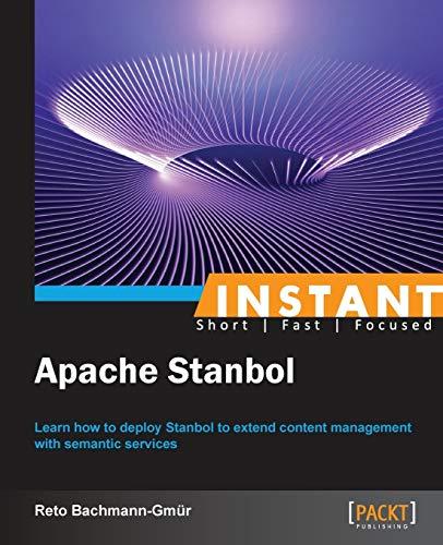 9781783281237: Instant Apache Stanbol