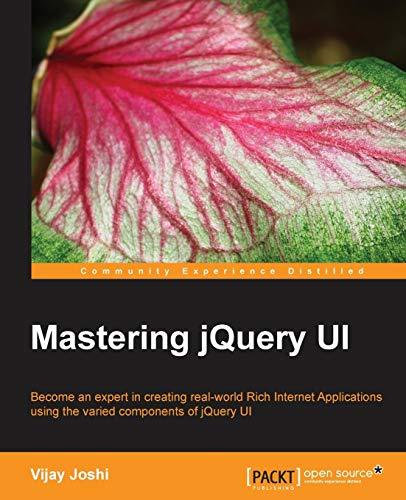 9781783286652: Mastering jQuery UI