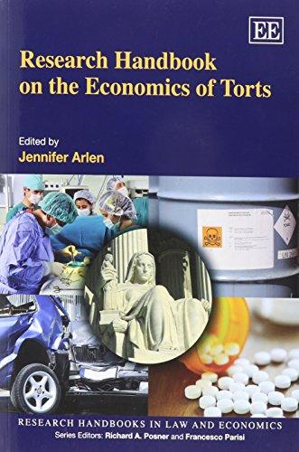 Research Handbook on the Economics of Torts: Arlen, Jennifer