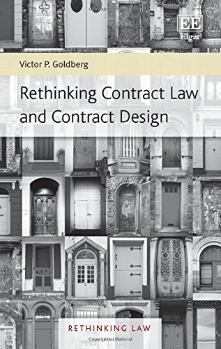 9781783471539: Rethinking Contract Law and Contract Design (Rethinking Law Series)