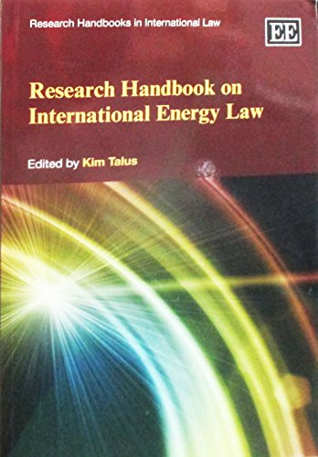 9781783478903: Research Handbook on International Energy Law (Research Handbooks in International Law series) (Elgar Original reference)