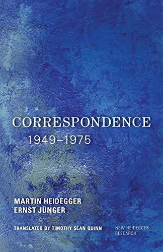 9781783488766: Correspondence 1949-1975 (New Heidegger Research)