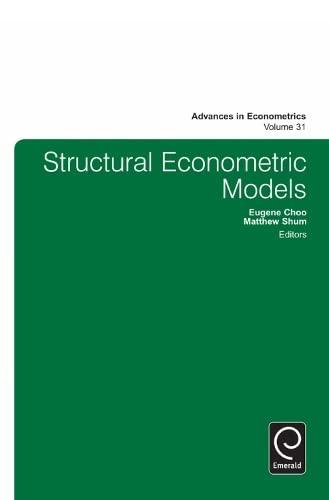 9781783500529: Structural Econometric Models (Advances in Econometrics)