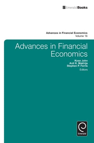 Advances in Financial Economics: Kose John