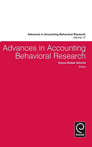 Advances in Accounting Behavioral Research (Advances in: Edited by Donna
