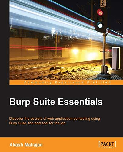 9781783550111: Burp Suite Essentials